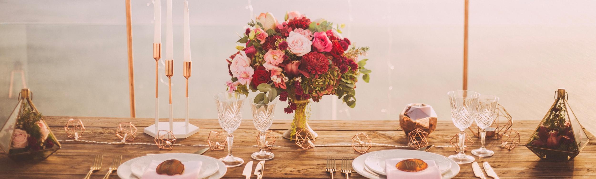 Tischdeko Hochzeitsdeko DIY