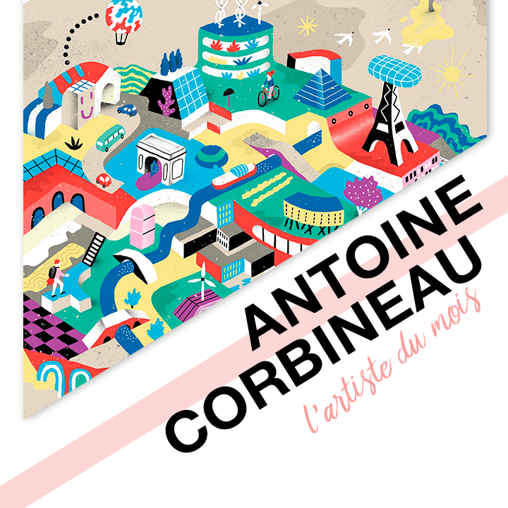 antoine corbineau artiste du mois canva design illustration