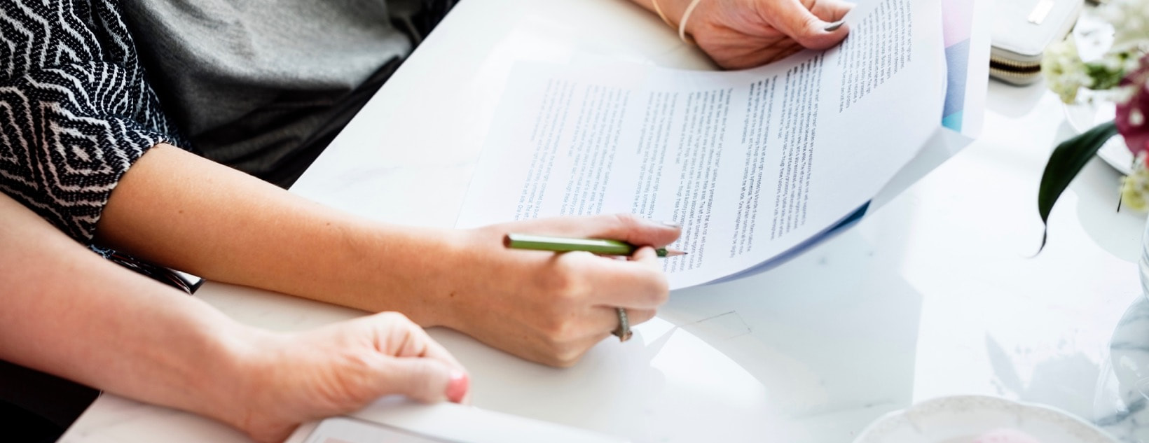 Agreement Analyzing Contract Ladies Concept