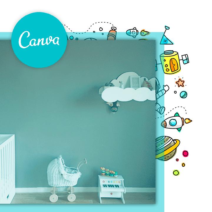 decoration chambre bébé canva