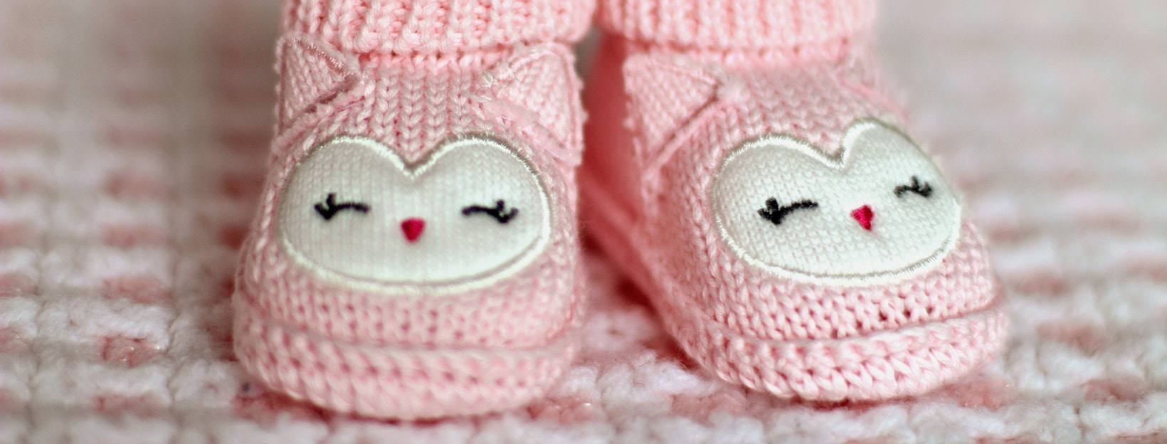 BANNER Canva - Close-up of Pink Baby Booties