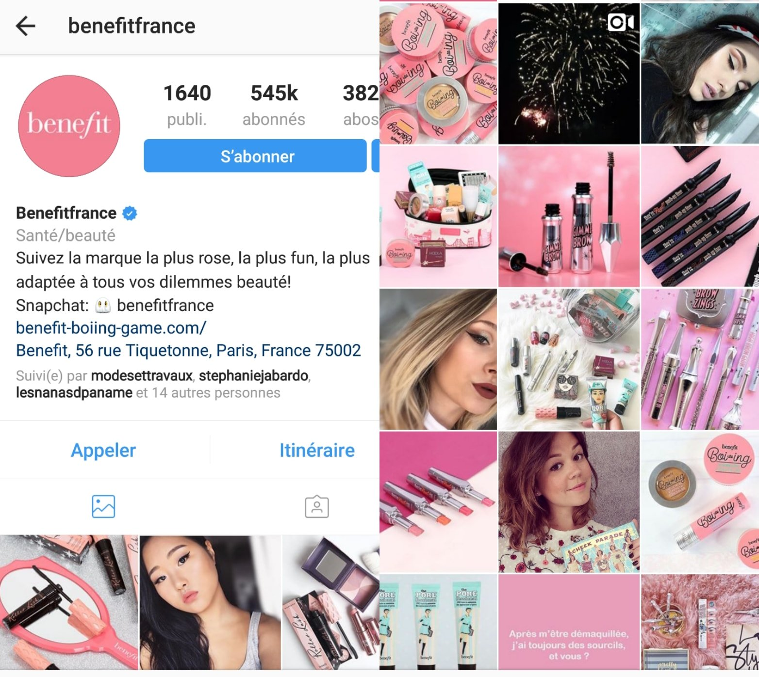 benefit instagram canva
