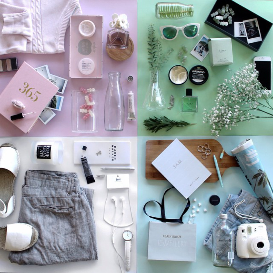 visibilite instagram flat lay canva