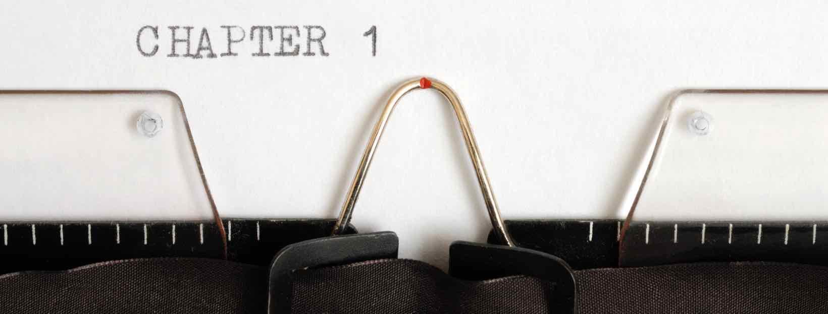 Inhaltsverzeichnis: Schreibmaschine mit dem Wort Chapter 1