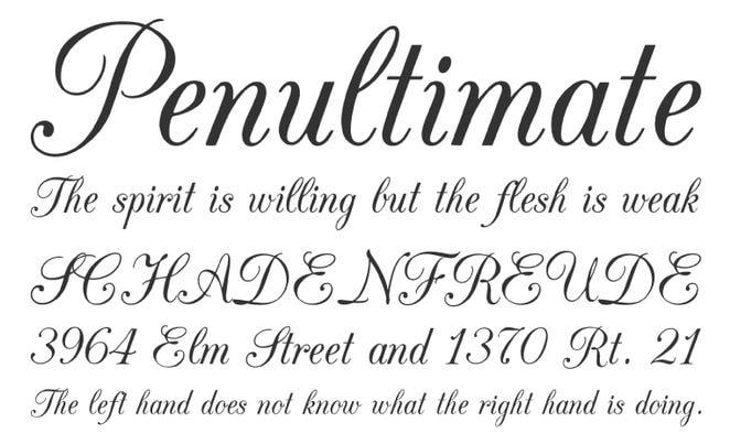 Fantastique 25 belles polices d'écriture calligraphique & manuscrite - Canva BI-42