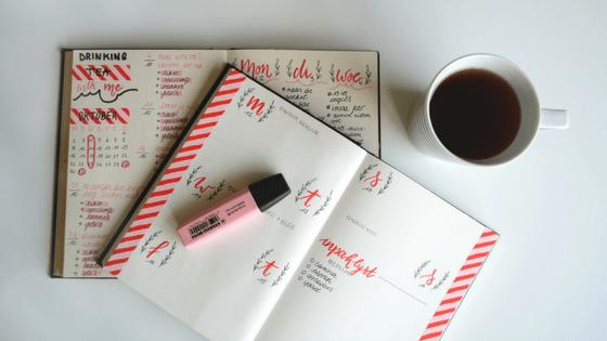 canva- bullet journal - pinterest
