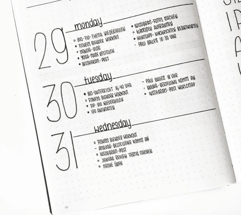 bullet-journal-daily-log