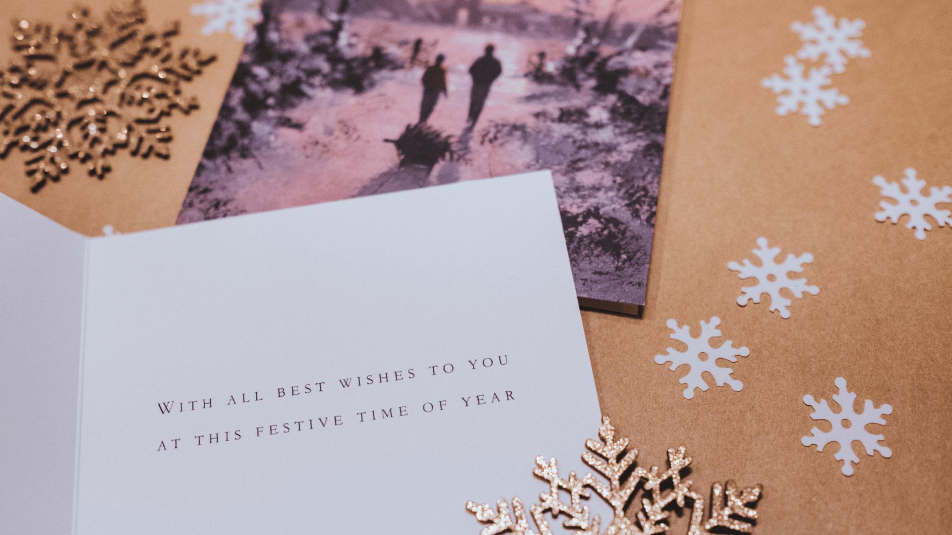 Persönliche Weihnachtskarte selbst gestalten
