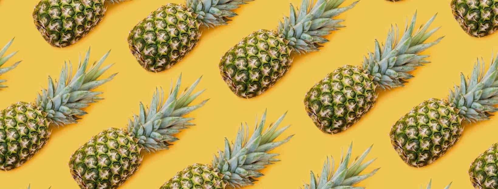 Lustige Hintergründe für Zoom: Ananas-Muster