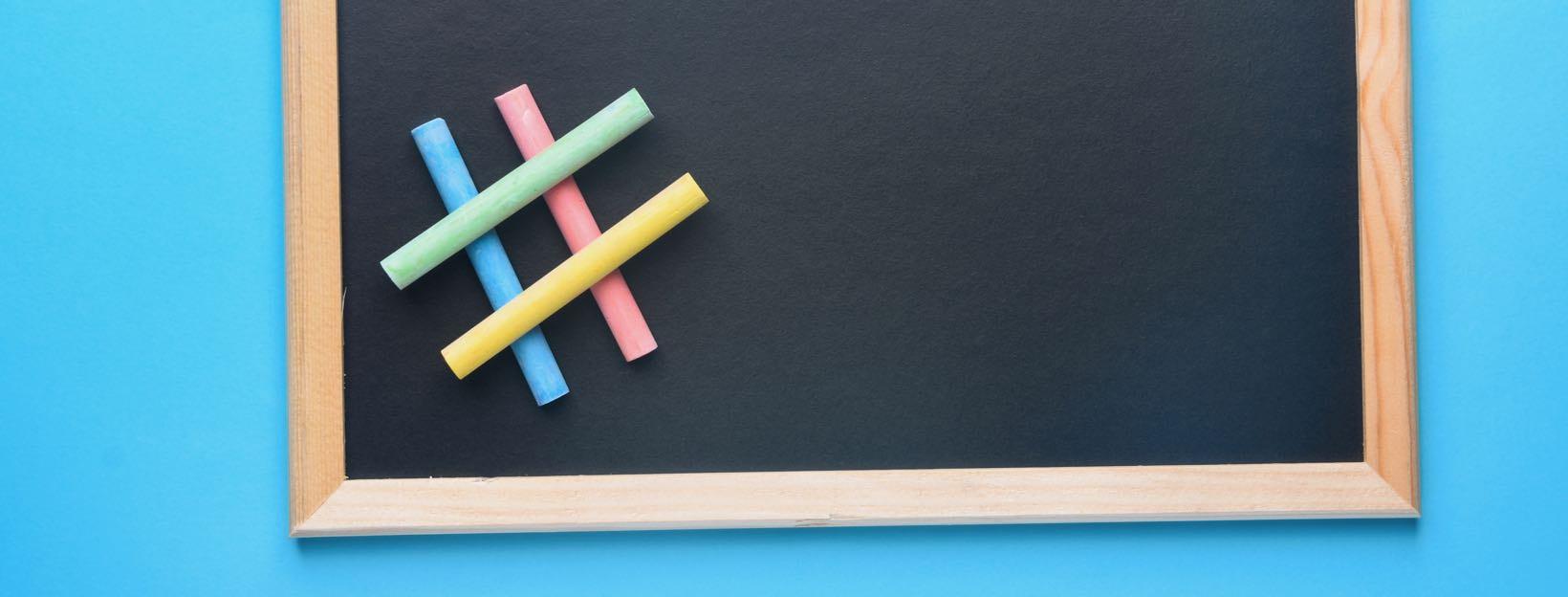 Tafel mit Kreide: Ideen für den Heimunterricht