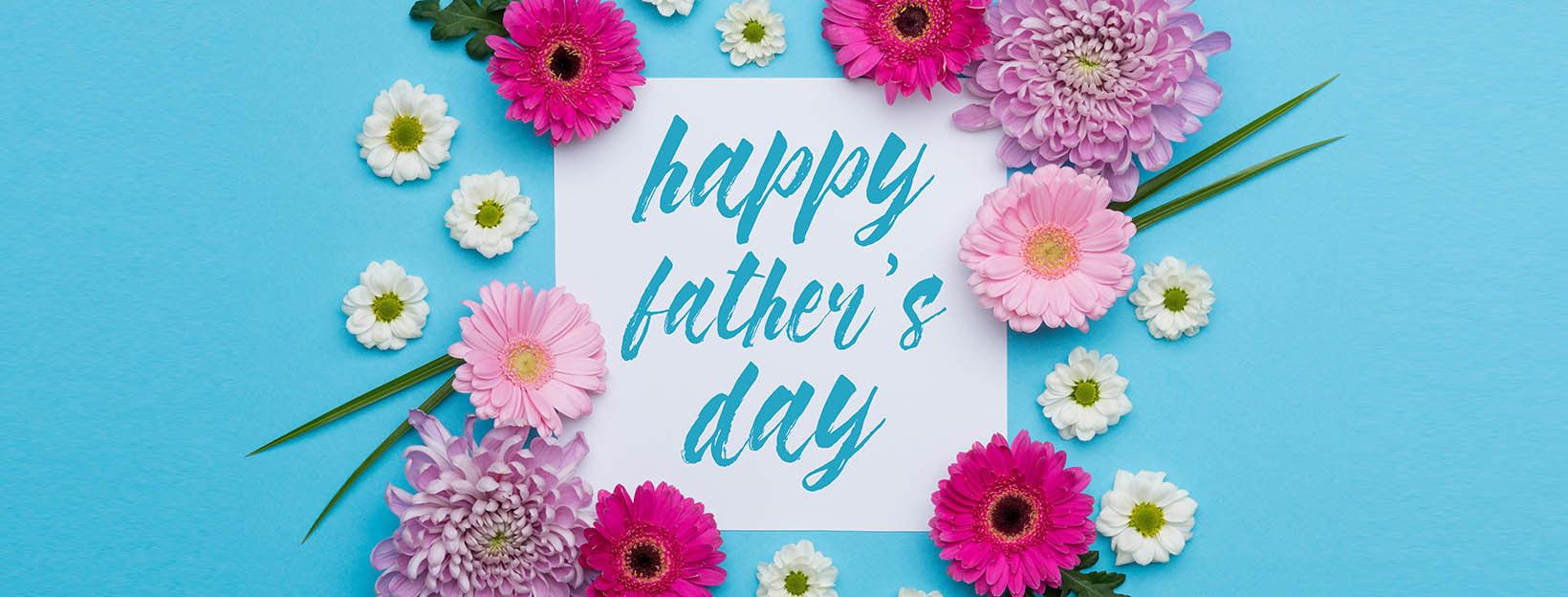 Vatertagsgrüße mit Blumen: Vorlagen für Karten zum Vatertag