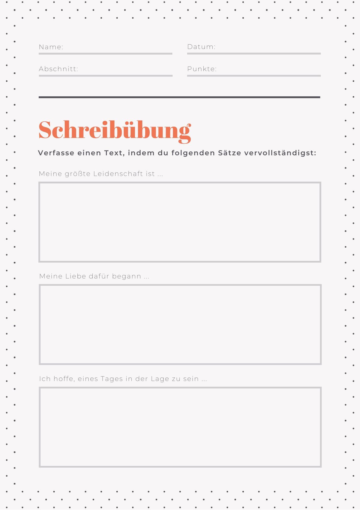 20 Arbeitsblätter Vorlagen für alle Schulstufen & Fächer