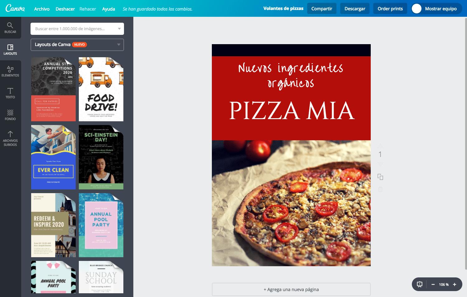 Volantes de pizzas