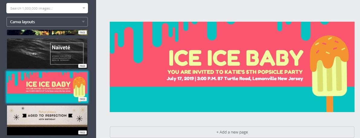 Selecciona una plantilla para la portada de tu evento