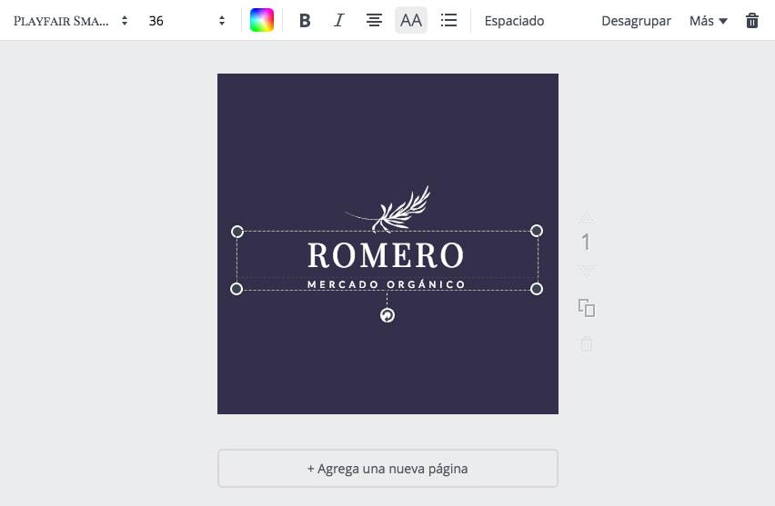 Personaliza el nombre y cambia la tipografía
