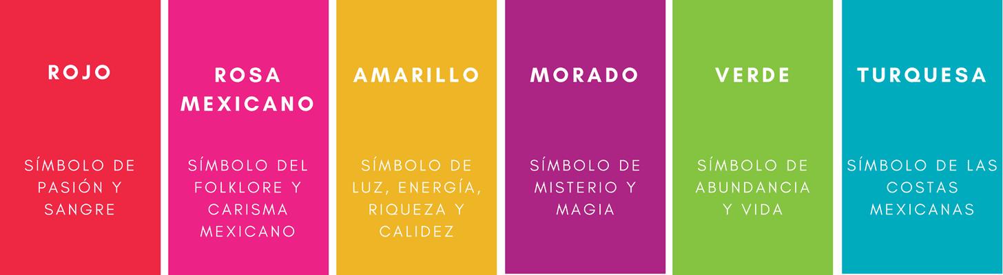 Paleta de colores del logotipo de México