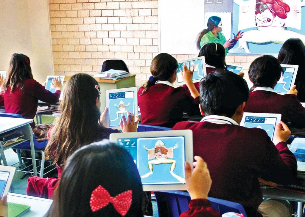 Uso de tablet en el salón de clases