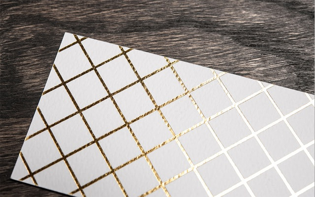 Tarjetas con diseños geométricos