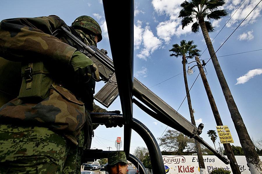 Patrullaje del ejército en Tamaulipas