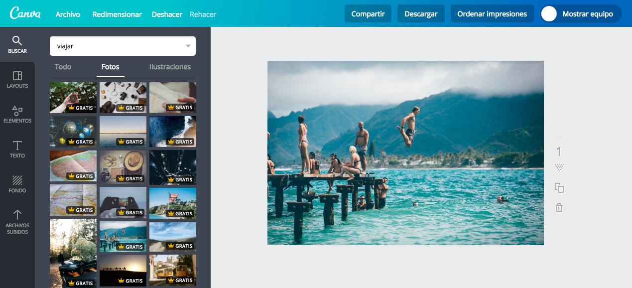 Canva es una agencia de fotos de bajo costo