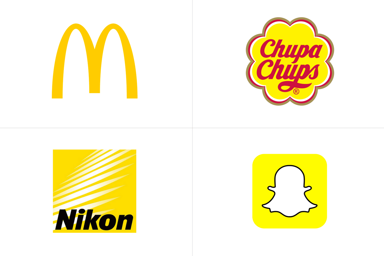 Logos de McDonald's, Chupa Chups, Nikon y Snapchat