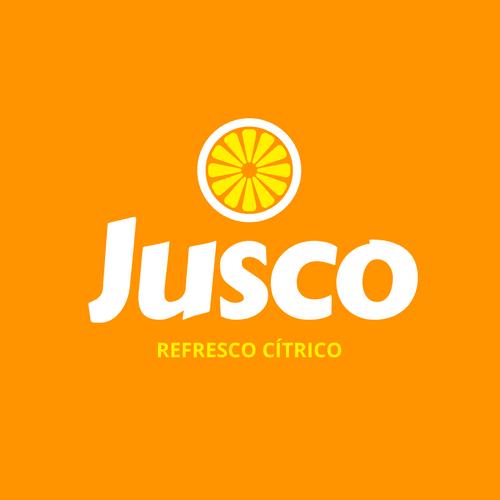 Crea un logo en color naranja con Canva