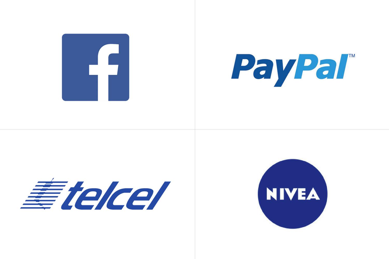 Logos de Facebook, Paypal, Telcel y Nivea