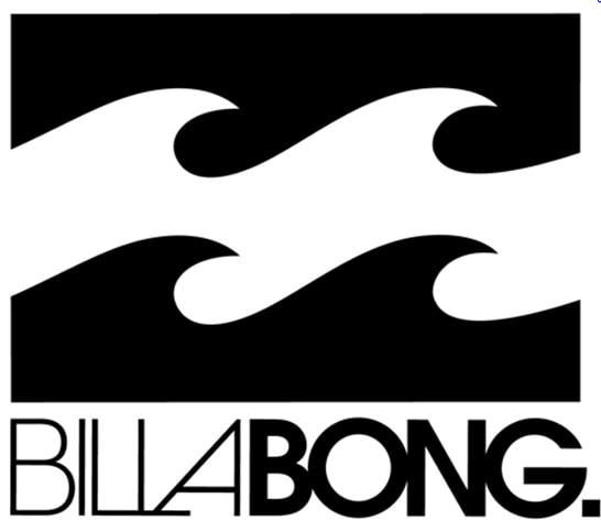 El logo de Billabong evoca la sensación del agua