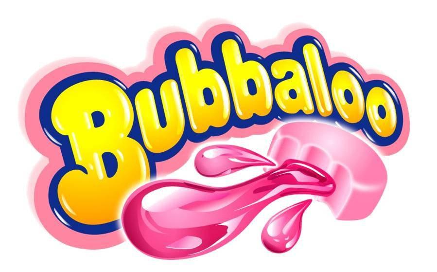 El logo de Bubbaloo evoca sensaciones gustativas y táctiles