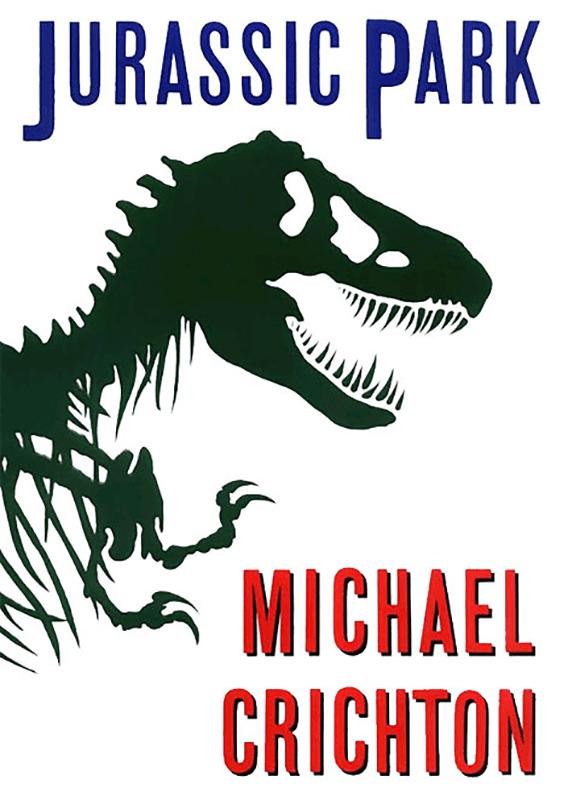 Portada de Jurassic Park, por Chip Kidd