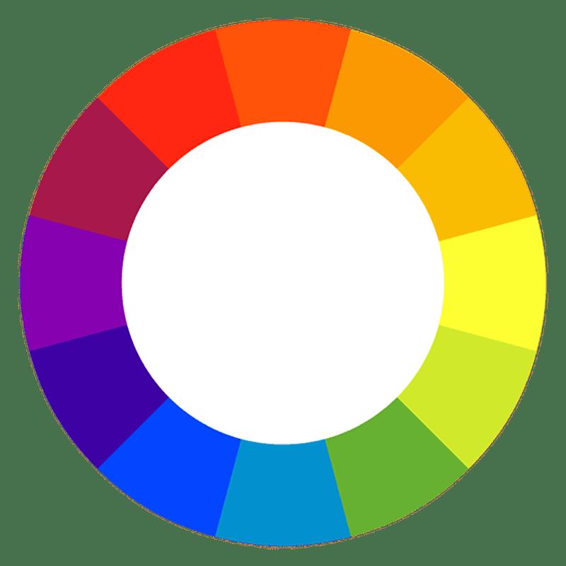 Utiliza colores complementarios
