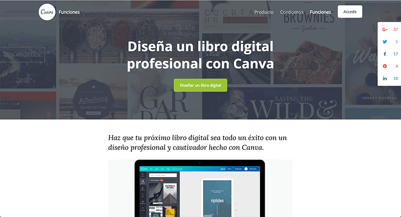 Diseña una portada digital con Canva