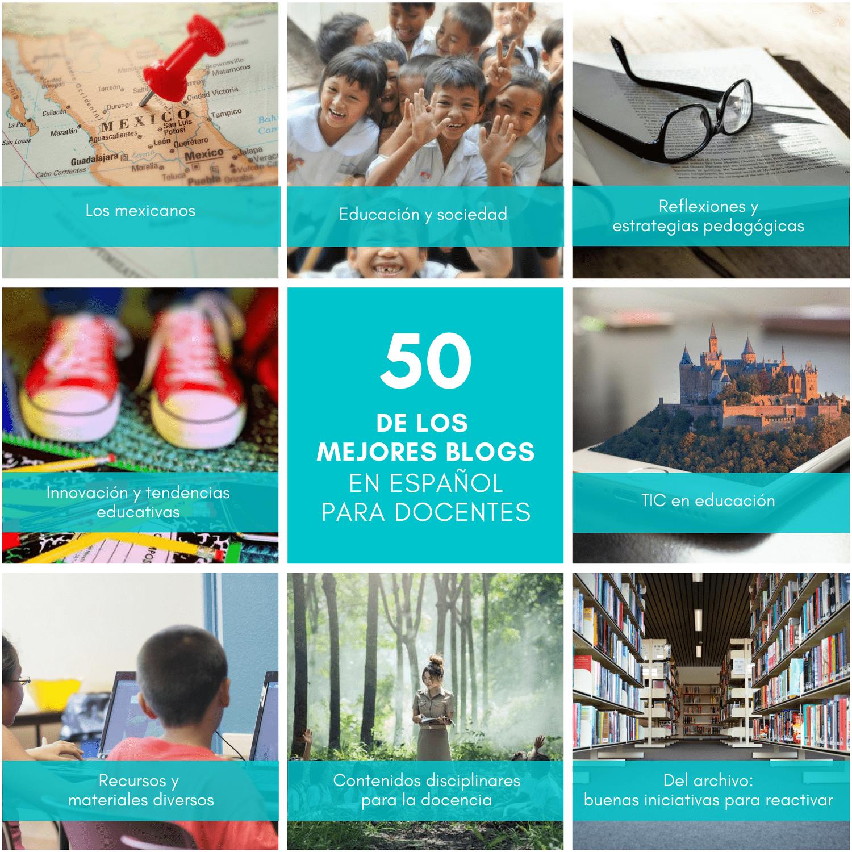 50 de los mejores blogs en español para docentes