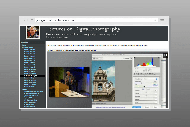 Lectures on Digital Photography, curso de fotografía en línea