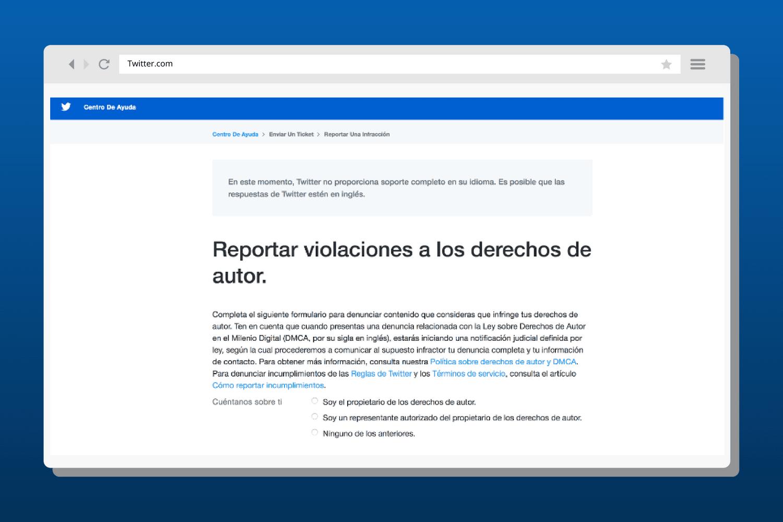 Instancias de protección de derechos de autor en redes sociales