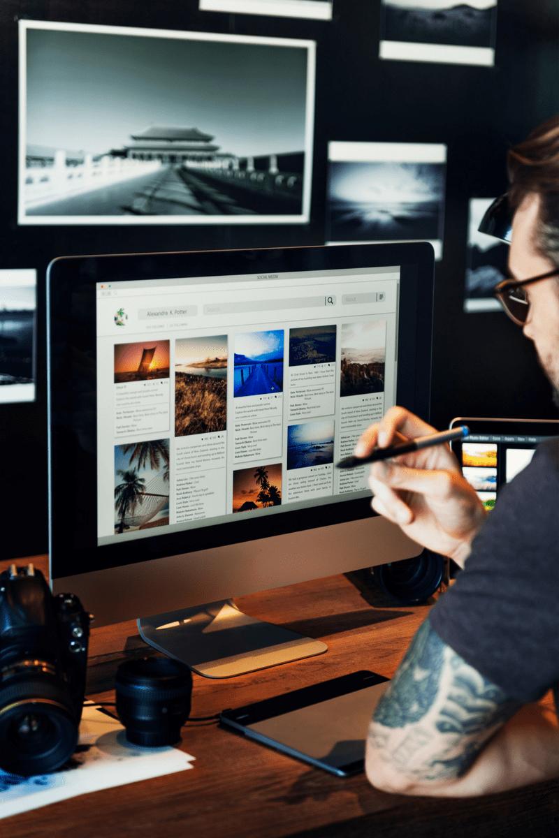 Usa fotos gratuitas de agencias o bancos de imágenes
