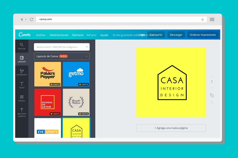 Crea o rediseña tu logotipo en Canva