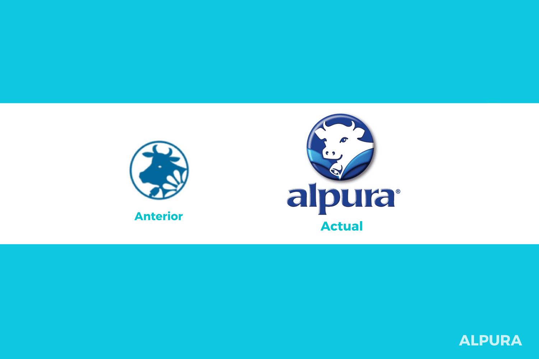 Evolución del logotipo de Alpura