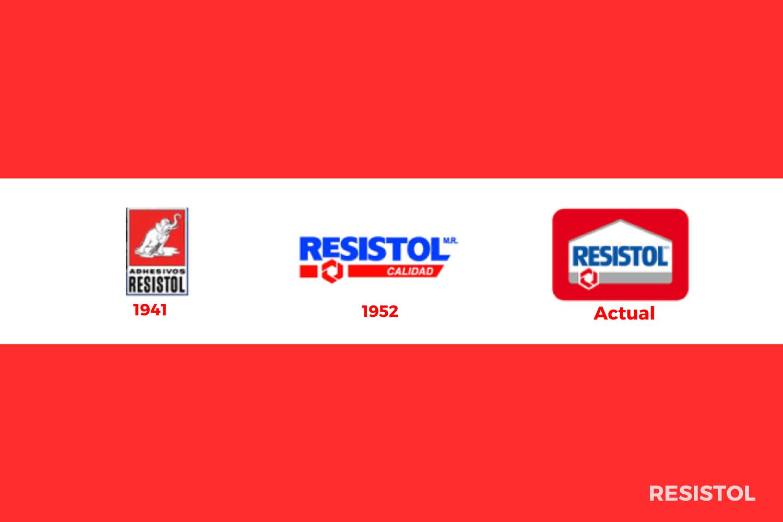 Evolución del logotipo de Resistol