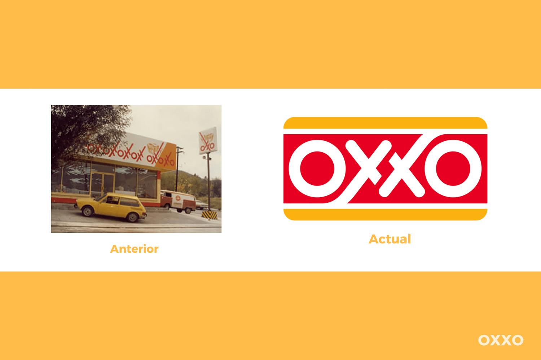 Evolución del logotipo de Oxxo