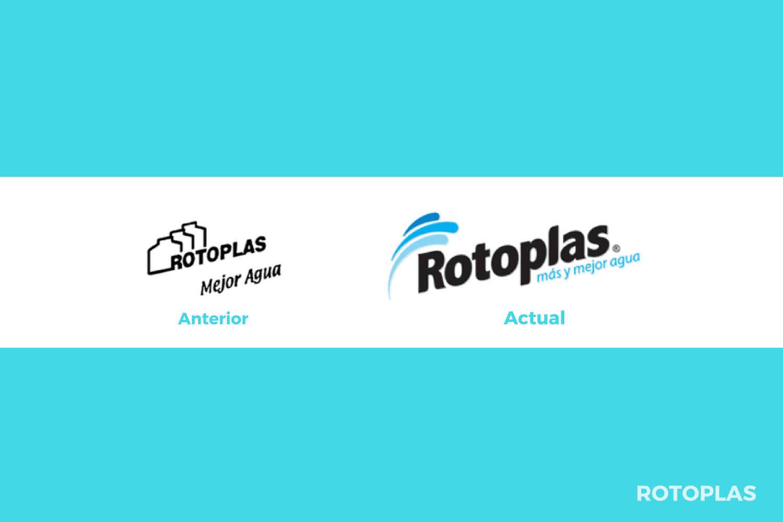 Evolución del logotipo de Rotoplas