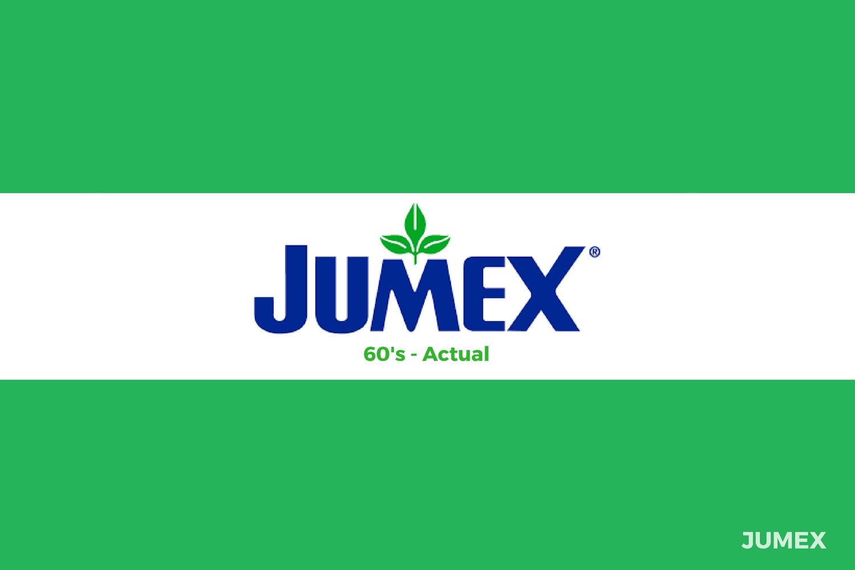 Evolución del logotipo de Jumex