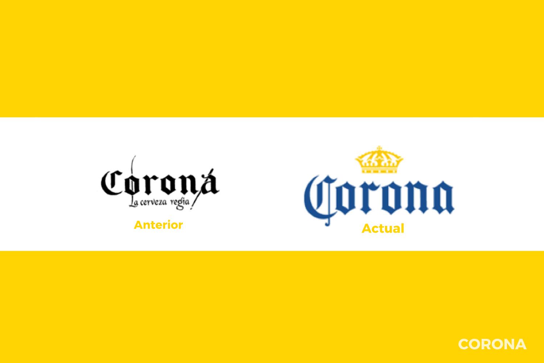 Evolución del logotipo de Corona
