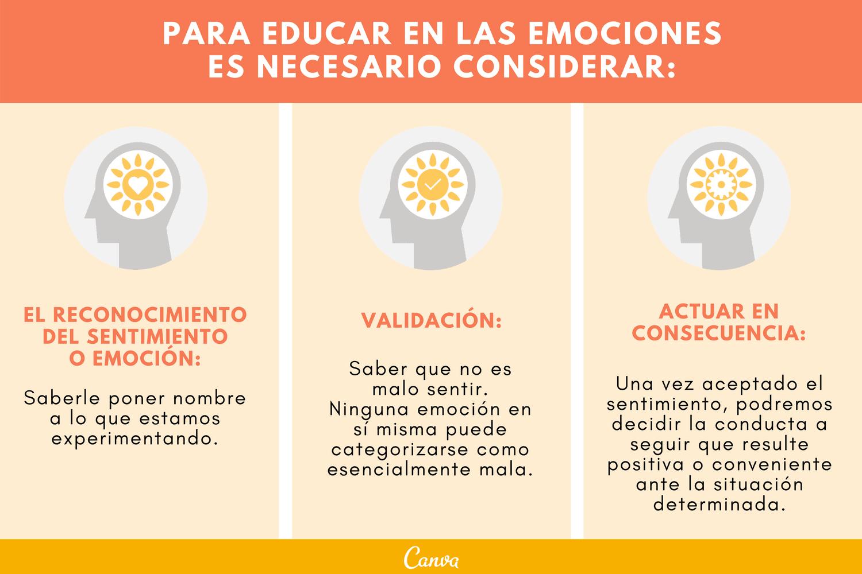 Consideraciones para educar la inteligencia emocional