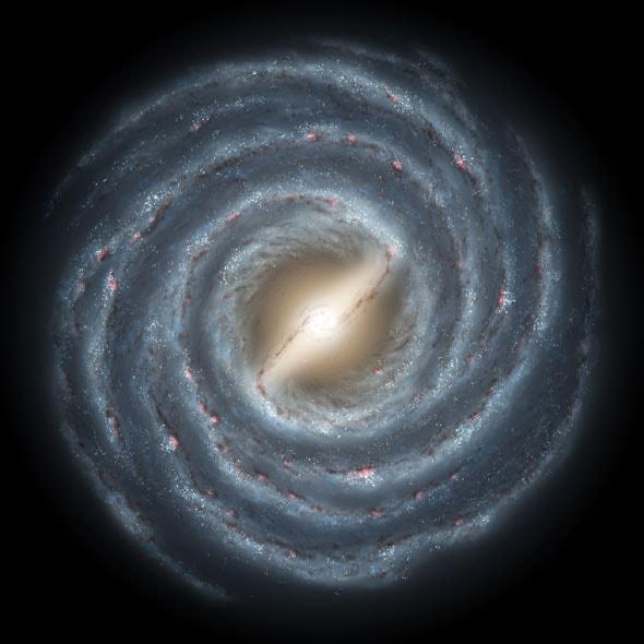 La espiral áurea está presente en la Vía Láctea
