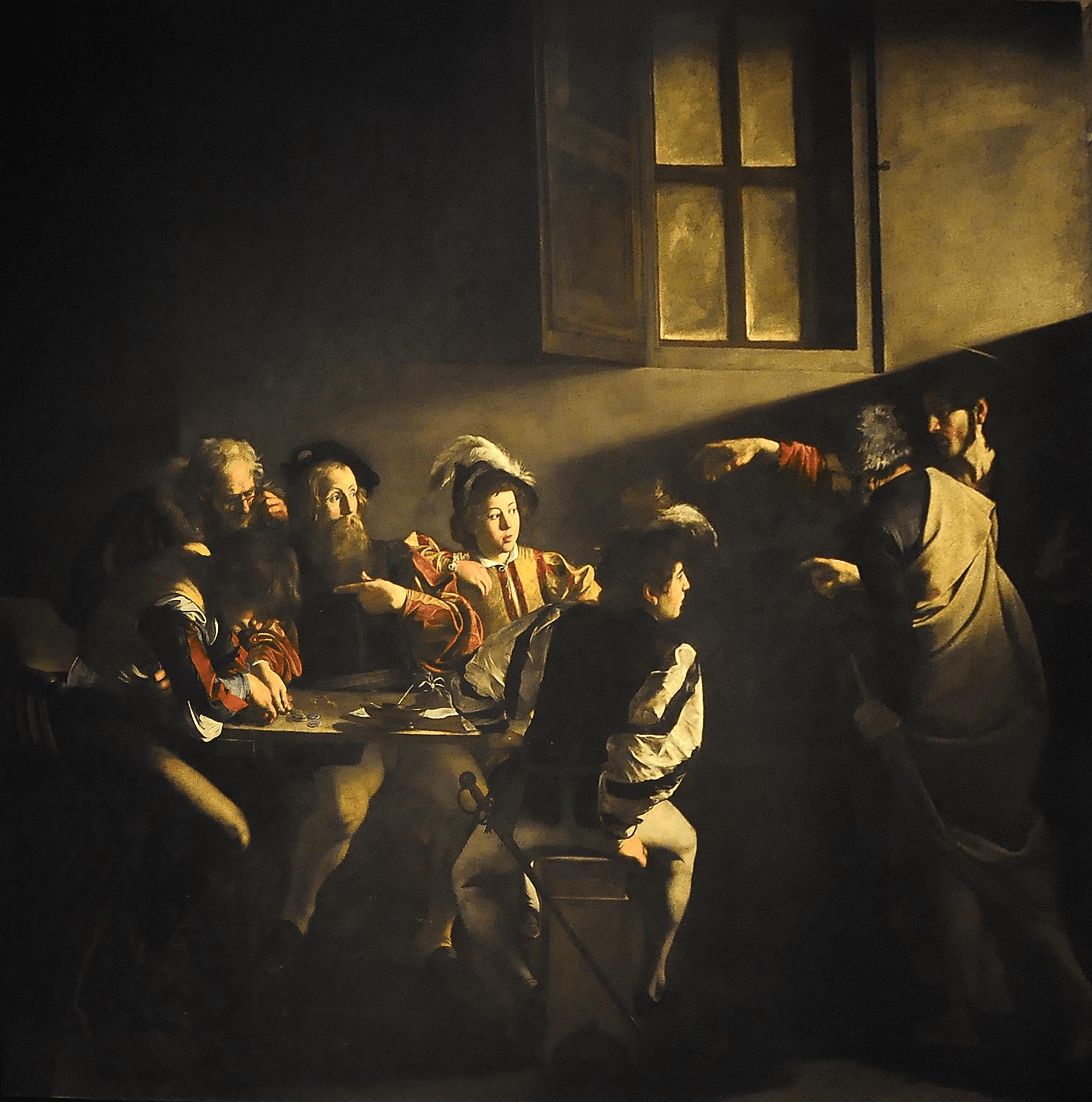 La vocación de San Mateo - Caravaggio