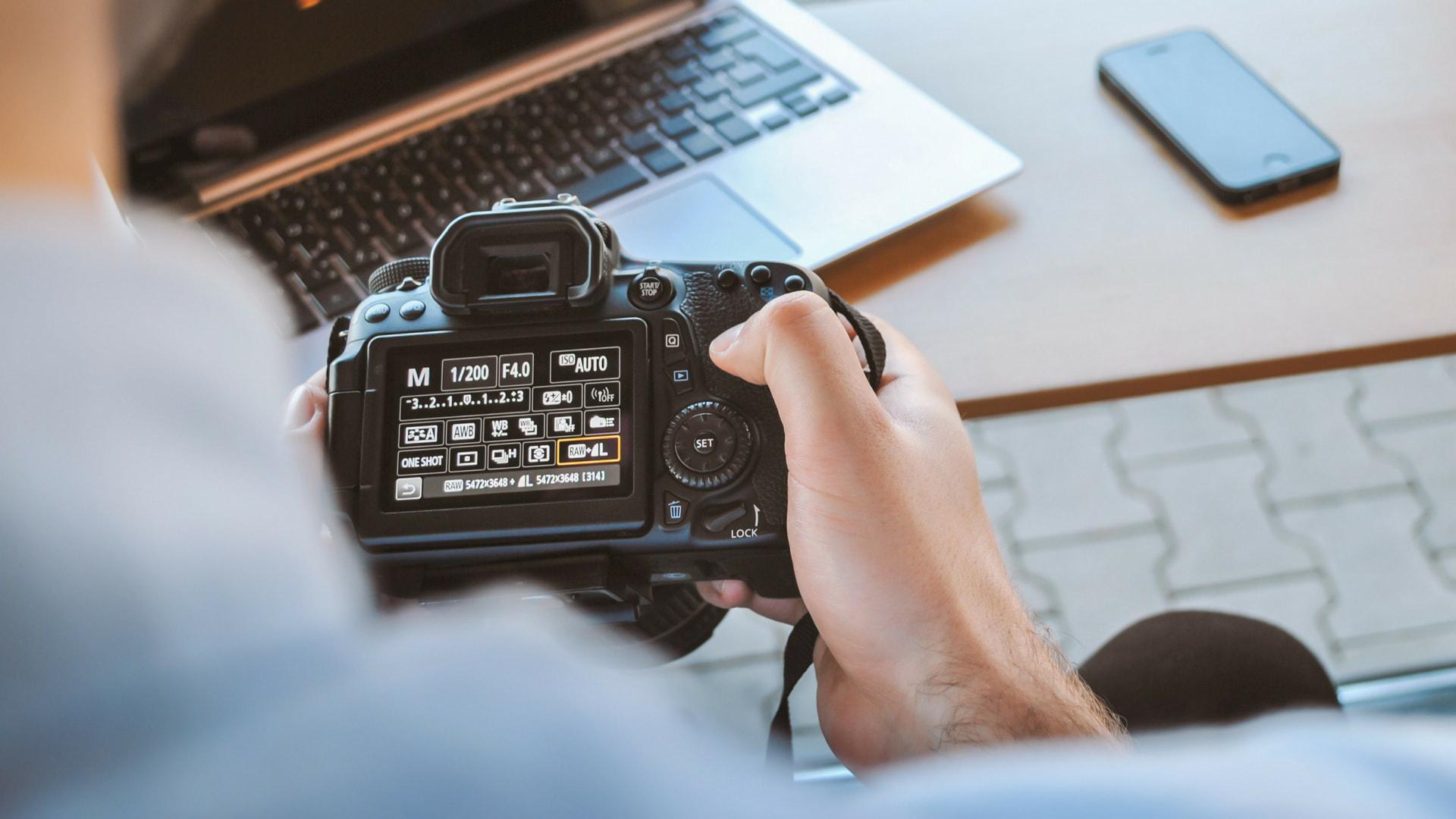 Menú de cámara digital