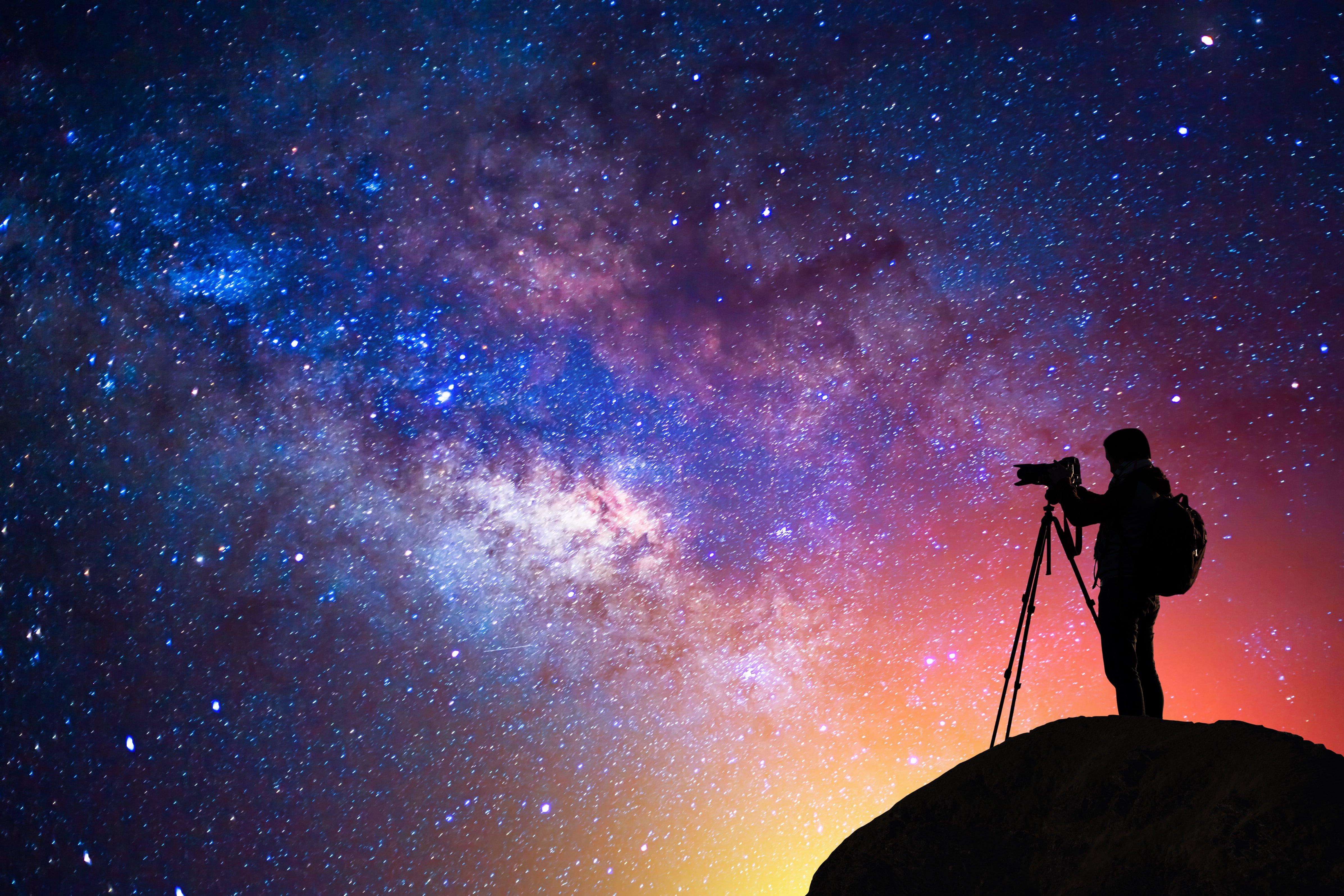 Captura el cielo nocturno