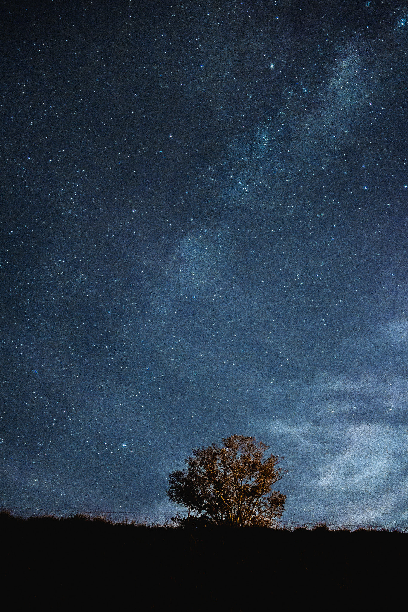 Abre el diafragma para obtener fotos con las estrellas fijas