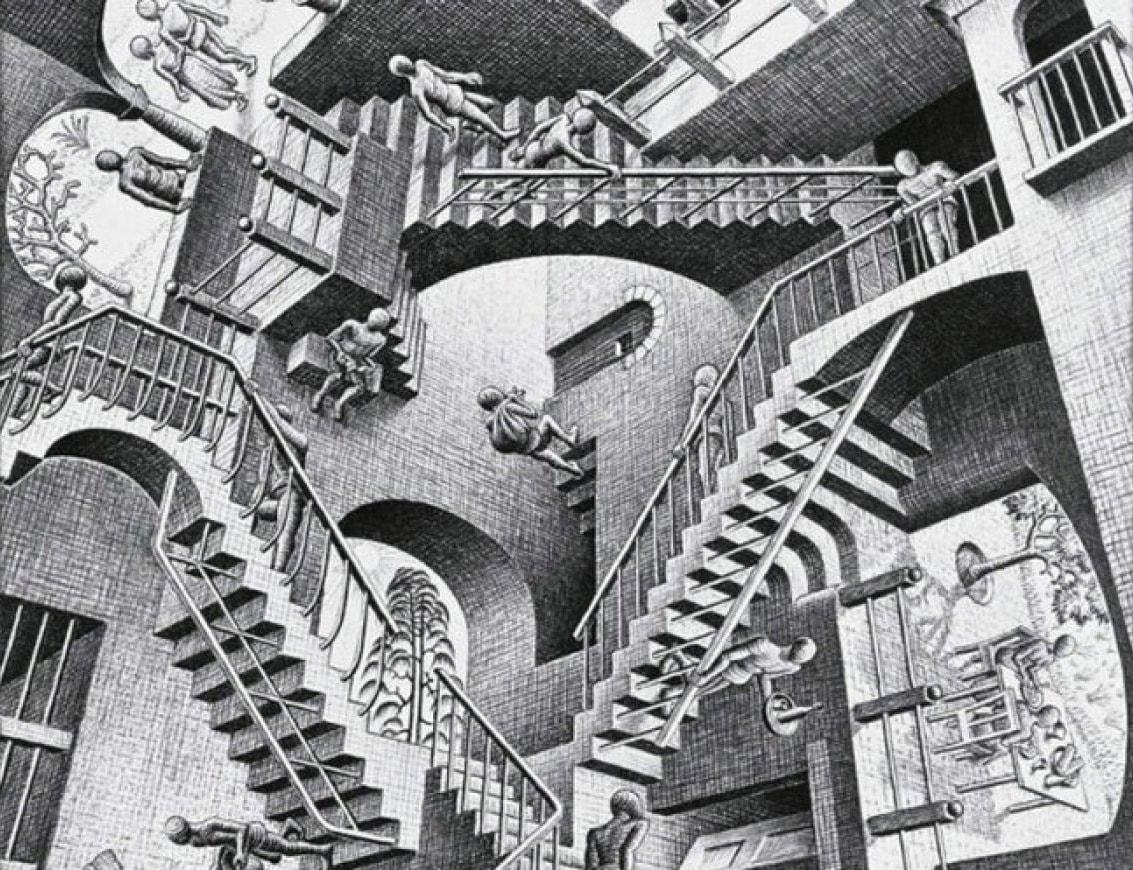 Dibujo de Escher
